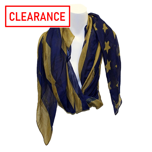 Image For Alma-Mater Collection Navy/Gold Flag Scarf