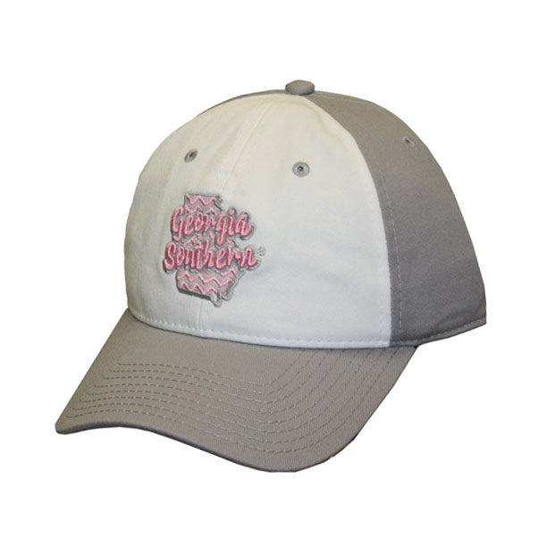 Image For The Game White/Grey Ladies Cap w/Embroidered State &GS