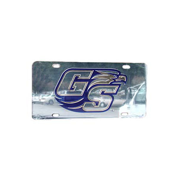 Image For Laser Silver License Plate w/Secondary Logo