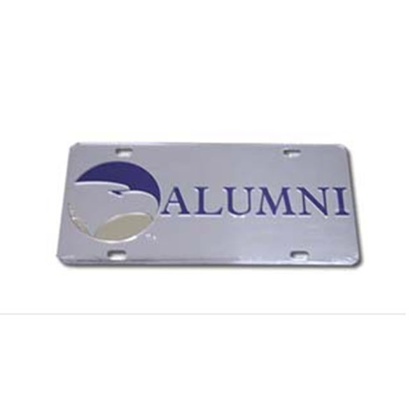 Image For Tag Laser Silver Alumni  w/Academic Logo