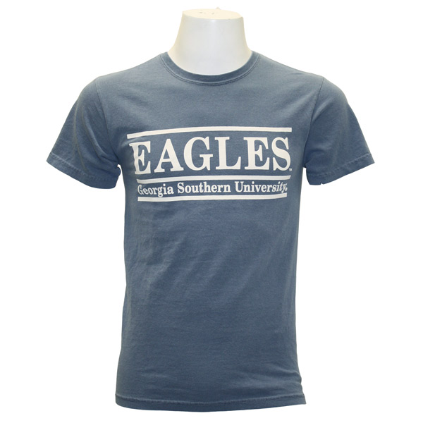 Image For Comfort Colors Blue Jean T-Shirt w/Eagles & GS Bar