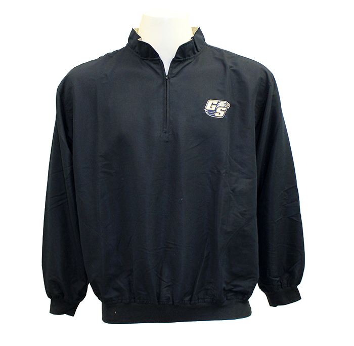 Image For Divots Navy 1/4 Zip Wind Jacket w/Embroidered Secondary Logo