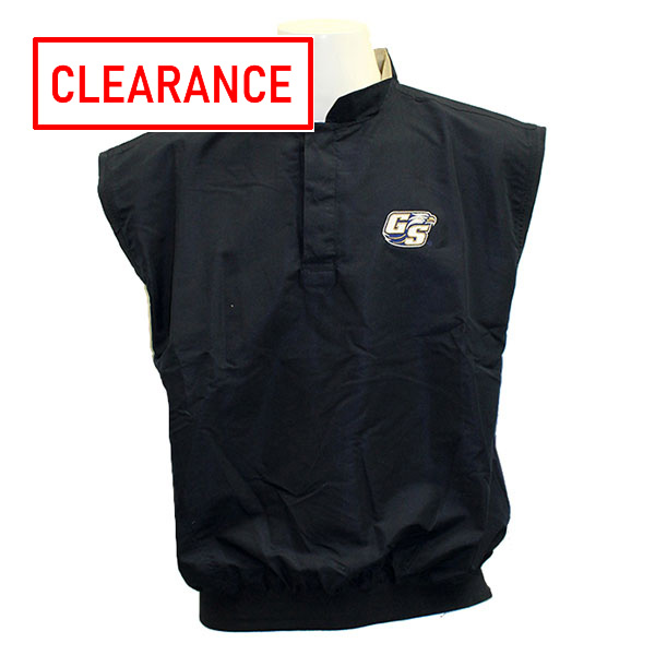 Image For Divots Navy Windvest w/Embroidered Athletic Logo