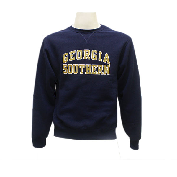 "Cover Image For Russell Navy Arched ""GS"" Fleece Crew"