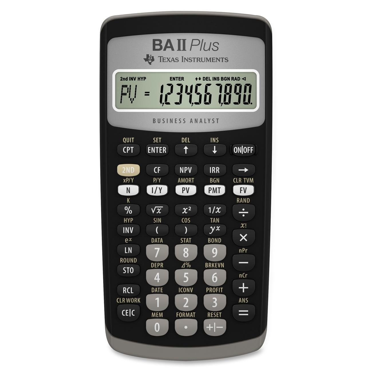 Image For Texas Instruments BA II Plus Financial Calculator