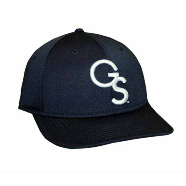 Cover Image For The Game Pro Navy Fitted Baseball Cap w/Embroidered GS