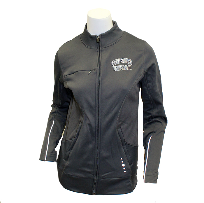 Cover Image For Russell Charcoal Athletic Women's Fleece Full Zip Jacket
