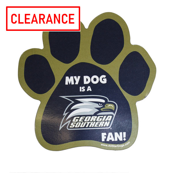 "Image For Paw Magnet w/""My Dog is GS Fan"""