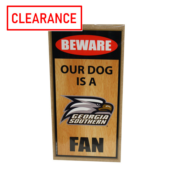 Image For Wooden Beware of Dog Sign w/Athletic Logo