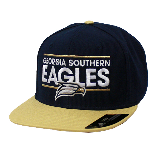 7e96e803c40 Adidas Navy Gold Flat Cap w GS Eagles Bar   Eagle Head