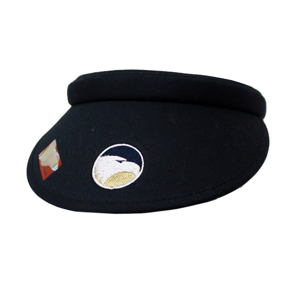Image For Navy Ladies Clip-On Solid Visor w/Academic Logo