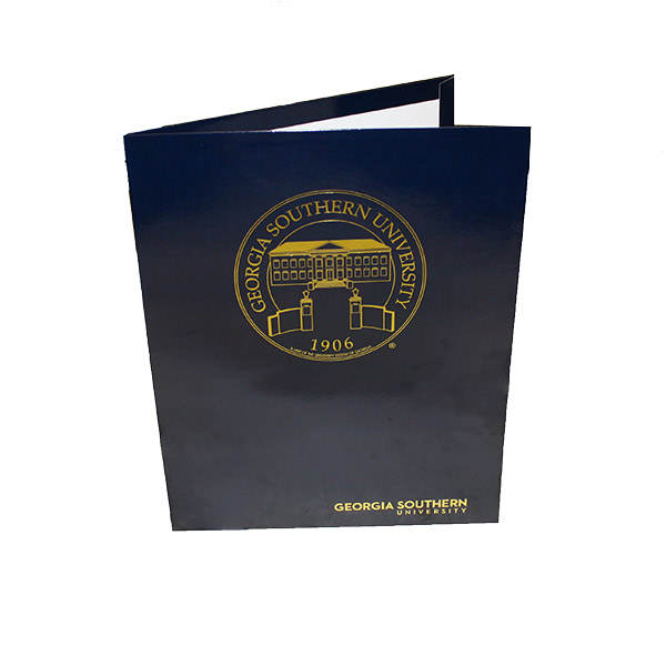 Image For Blue Glossy GSU Folder W/ Seal