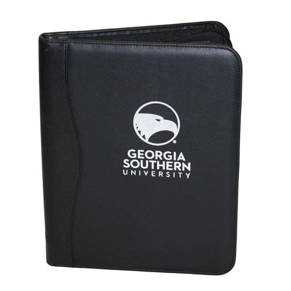 Image For Samsill Black Zipper Portfolio w/Academic Logo