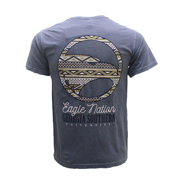 Image For Comfort Colors Jean T-Shirt w/Eagle Nation on Pocket & Back