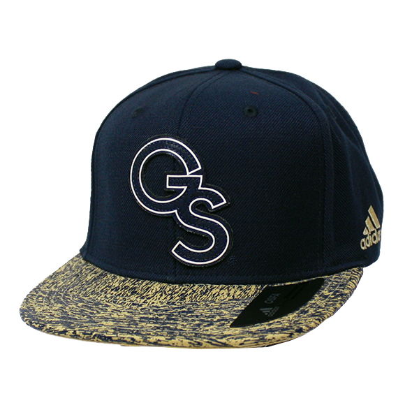 Image For Adidas Navy/Gold Speckled Flat Cap w/GS on Front & Back