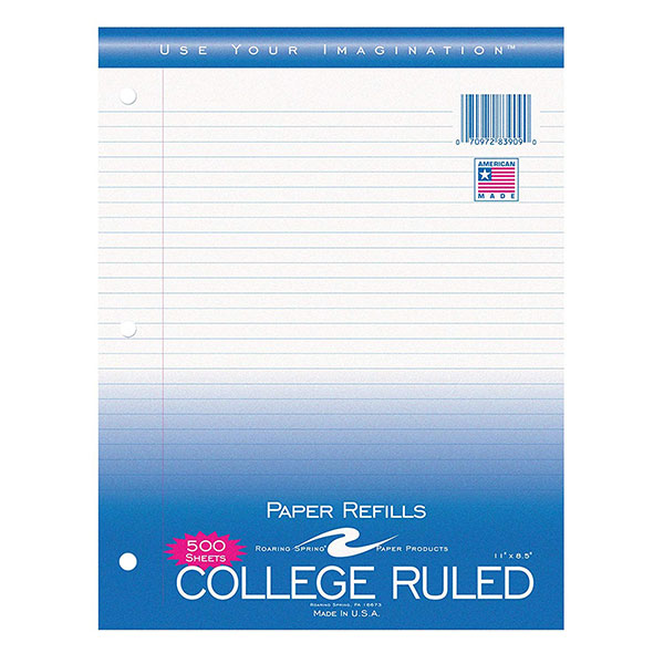 Image For College Ruled Paper Filler,500 Count