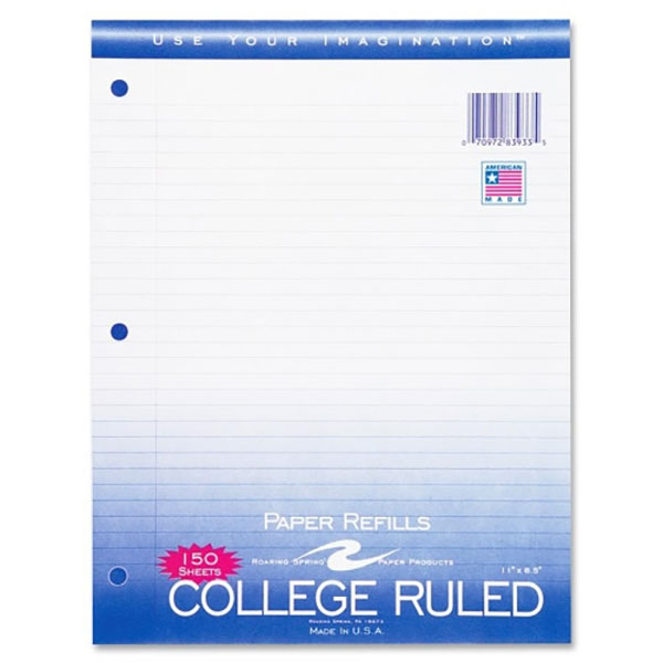 Image For College Ruled Paper Filler,150 Count