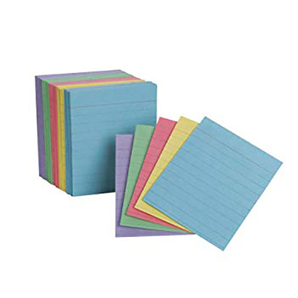 Image For Oxford Mini Index Cards, Assorted Colors, 200PK
