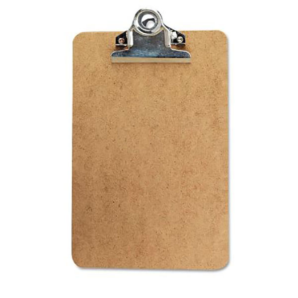 Image For Hardboard Clipboard, 6 X 9, Brown