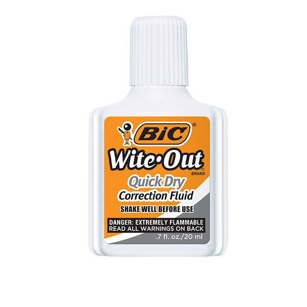 Image For BIC Wite-Out Quick Dry Correction Fluid, White