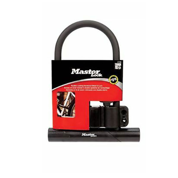 Image For Master Lock U-Bar Bicycle Lock, w/ 2 Keys