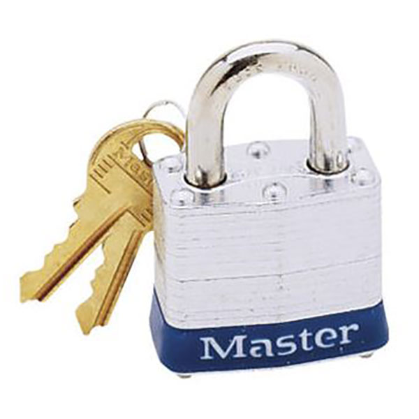 Image For Master Lock 3D , 3/4-inch Shackle, 1-9/16-inch Wide, 2 Keys