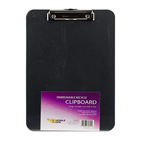 Image For Mobile Ops Unbreakable Recycled Clipboard BLACK