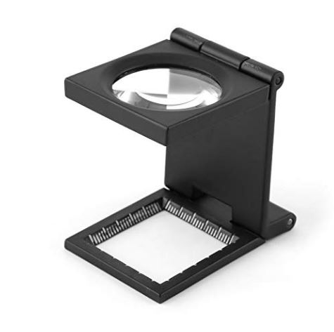 Image For Folding Magnifier with Scale for Textile