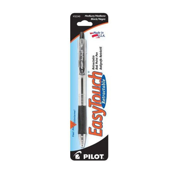 Image For Pilot EasyTouch Retractable Ball Point Pen, Black