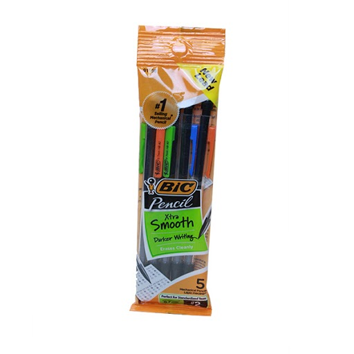 Image For Bic Xtra Smooth Mechanical Pencils, .7 mm, 5 pack