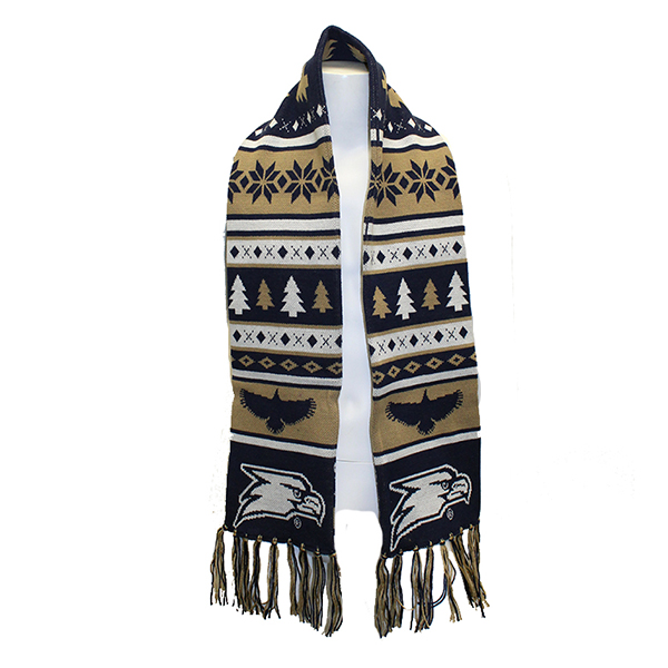 Image For Ugly Christmas Sweater Scarf w/Eagle Head
