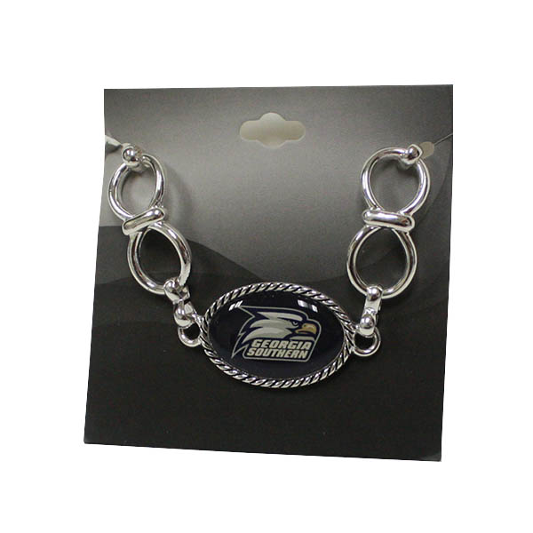 Image For Silver Bracelet w/Athletic Logo
