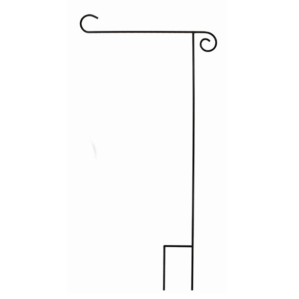 Image For Black 35 in. heavy duty Steel Garden Flag Stand