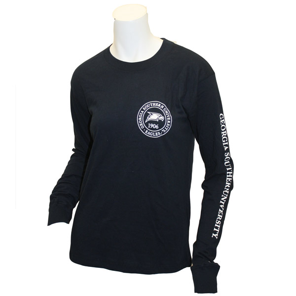 Image For League Navy Long Sleeve w/GSU Circle & Eagle Head