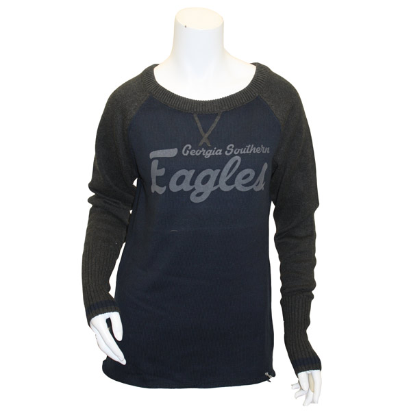 Image For Navy Ladies Sweater w/GS Eagles