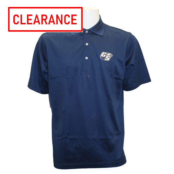 Image For Divots Navy Academic Polo w/Secondary Logo