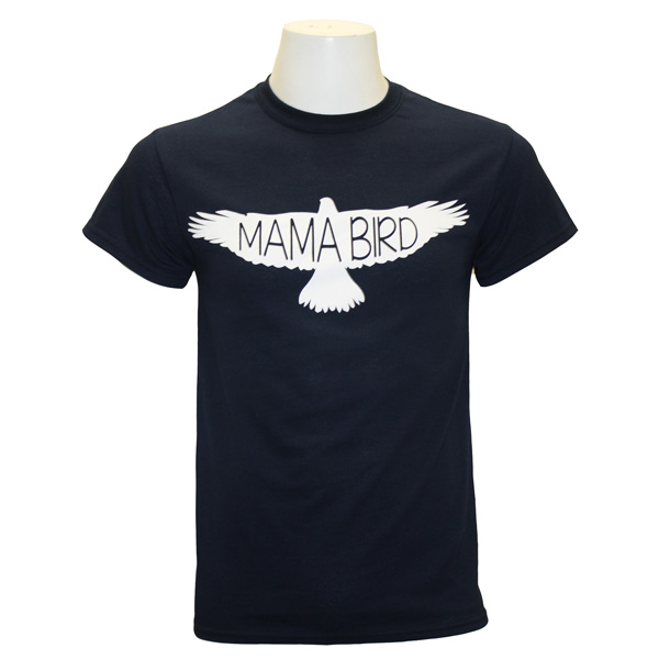 "Image For Navy ""Mama Bird"" T-shirt w/ ""GSU"" on Back Mom Shirt"