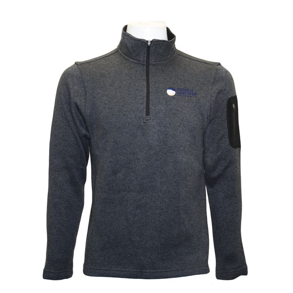 Image For Charcoal 1/4 Zip Pullover w/Academic Logo
