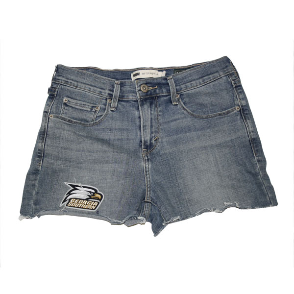 Image For Legacy Denim Distressed Shorts w/Athletic Logo
