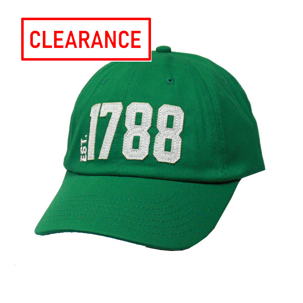 Image For Alma-Mater Collection Green Cap w/1788 & Georgia on Back