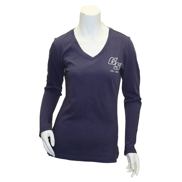 Image For Dark Blue Long Sleeve V-Neck w/GS Est.1906