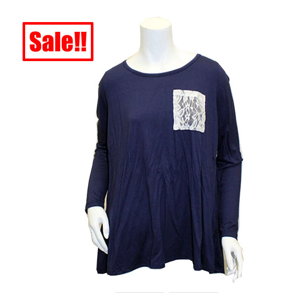 Image For Game Day Girl Stuff Navy/White Top w/ Pocket