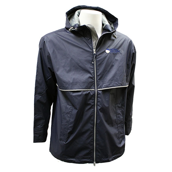 Image For Charles River Navy Men's New Englander Rain Jacket