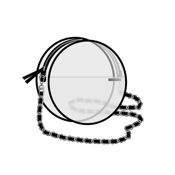 Image For Canteen Crossbody - Clear w/ Black Accents
