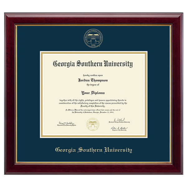 Image For Gold Embossed Diploma Frame w/Seal