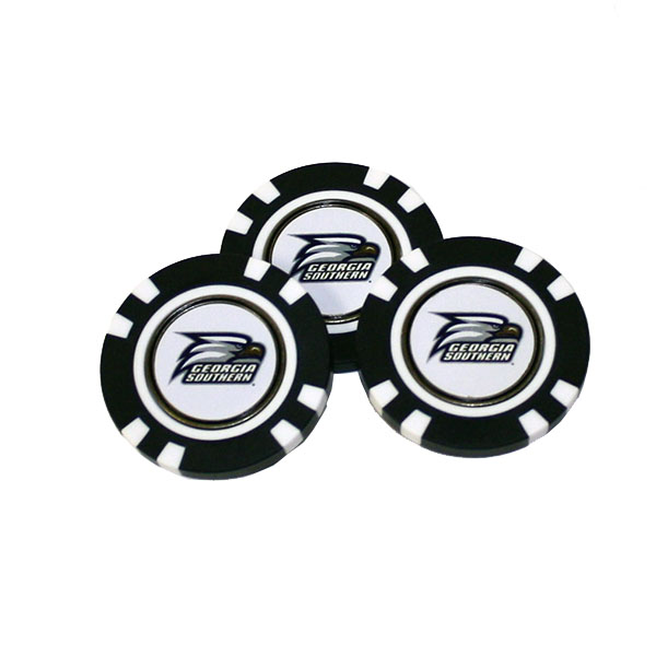 Image For 3 Pack Golf Poker Chip Ball Markers w/Athletic Logo
