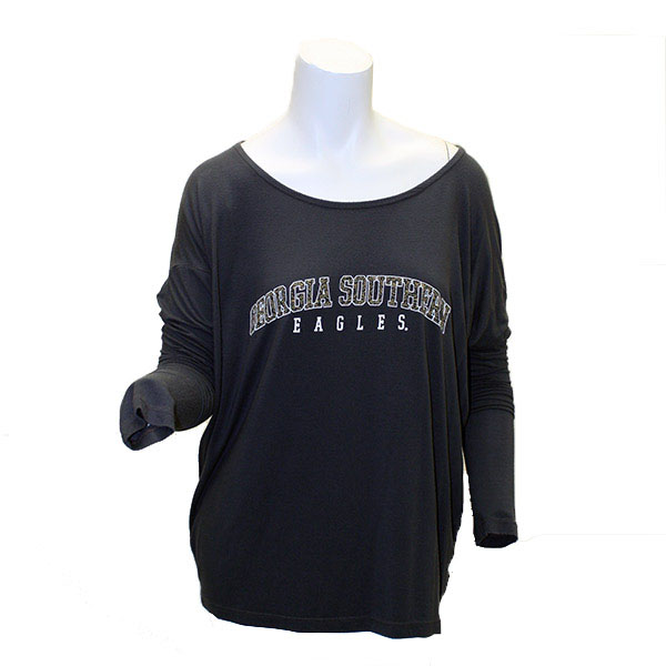 Image For Charcoal Ladies Long Sleeve Top