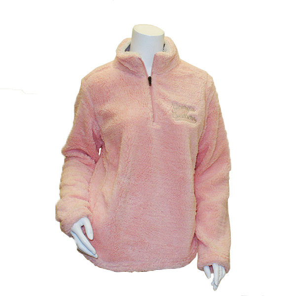 Image For MV Sport Cameo Pink Addison Sherpa Quarter Zip