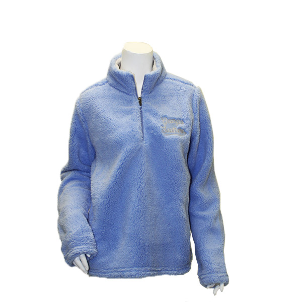 Image For MV Sport Serenity Blue Addison Sherpa Quarter Zip