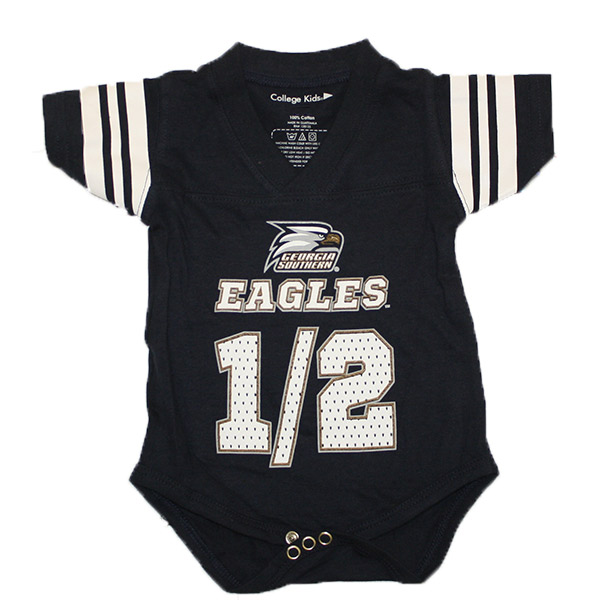 Cover Image For College Kids Navy Infant Onesie w/ Athletic logo